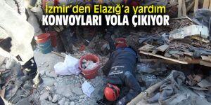 İzmir'den Elazığ'a yardım konvoyları yola çıkıyor