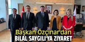 Başkan Özçınar'dan Bilal Saygılı'ya ziyaret