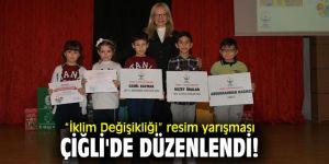"""""""İklim Değişikliği"""" resim yarışması Çiğli'de düzenlendi!"""