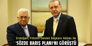Erdoğan, Filistin Devlet Başkanı ile 'sözde barış planı'nı görüştü!