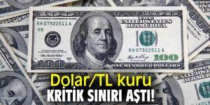 Dolar/TL kuru kritik sınırı aştı!