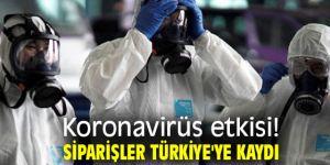 Koronavirüsün etkisiyle siparişler Türkiye'ye kaydı!