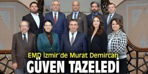 Ekonomi Muhabirleri Derneği İzmir'de Murat Demircan güven tazeledi