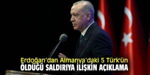Erdoğan'dan flaş Almanya açıklaması