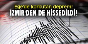 Ege Bölgesi'nde korkutan deprem! İzmir'den de hissedildi!