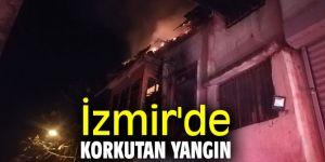 İzmir'de 2 katlı binada yangın çıktı!