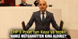 CHP'li Polat'tan AK Partili Kaya'ya tepki!