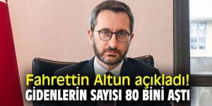 Fahrettin Altun açıkladı! Gidenlerin sayısı 80 bini aştı