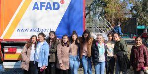 AFAD deprem simülatörü öğrencilere depremi yaşattı