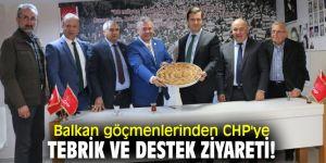 Balkan göçmenlerinden CHP İzmir'e ziyaret!