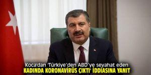 Bakan Koca'dan koronavirüslü Türk yolcu yanıtı!