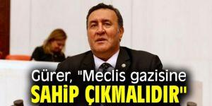 """Gürer, """"Meclis gazisine sahip çıkmalıdır"""""""