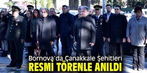 Bornova'da Çanakkale Şehitleri resmi törenle anıldı