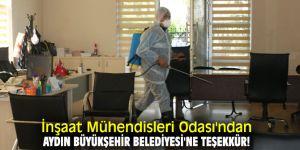 İnşaat Mühendisleri Odası'ndan Aydın Büyükşehir Belediyesi'ne teşekkür!