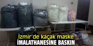İzmir'de zabıta ekipleri kaçak maske imalathanesine baskın yaptı