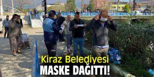 Kiraz Belediyesi maske dağıttı!
