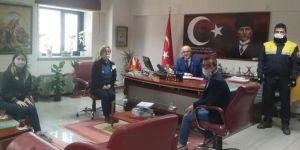 Öz Haber İş'ten PTT başmüdürüne ziyaret