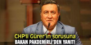 CHP'li Gürer'in sorusuna Bakan Pakdemirli'den yanıt!