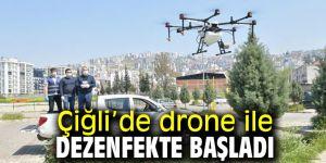 Çiğli'de drone ile dezenfekte başladı