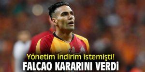 Galatasaray yönetimi indirim istemişti! Falcao kararını verdi