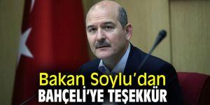 Bakan Soylu'dan MHP lideri Bahçeli'ye teşekkür