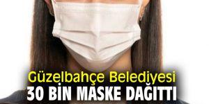 Güzelbahçe Belediyesi'nden 'kullan-at' tipi maske