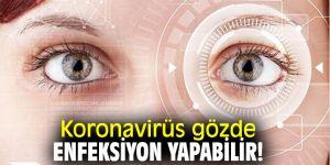 Koronavirüs gözde enfeksiyon yapabilir!