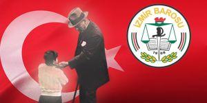 İzmir Barosu'ndan 23 Nisan mesajı!
