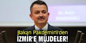 Bakan Pakdemirli'den İzmir'e müjdeler!