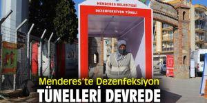 Menderes Belediyesi'nden dezenfeksiyon tünelleri