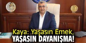 Ali Kaya'dan 1 Mayıs Emek ve Dayanışma Günü mesajı