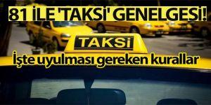 Ticari taksilerle ilgili yeni genelge