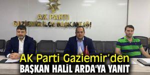 AK Parti Gaziemir'den Başkan Halil Arda'ya yanıt