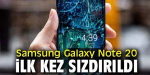 Samsung Galaxy Note 20 sızdırıldı!