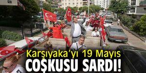 Karşıyaka'yı 19 Mayıs coşkusu sardı!