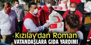 Roman vatandaşlara Kızılay'dan gıda yardımı!