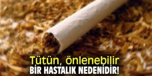 Tütün, önlenebilir bir hastalık nedenidir!