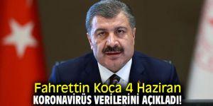 Fahrettin Koca 4 Haziran koronavirüs verilerini açıkladı!