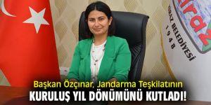 Başkan Özçınar, Jandarma Teşkilatının kuruluş yıl dönümünü kutladı!