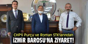 CHP'li Purçu ve Roman STK'larından İzmir Barosu'na ziyaret!