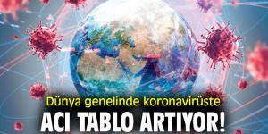 Dünya genelinde koronavirüste acı tablo