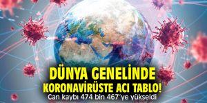 Dünya genelinde koronavirüste acı tablo! Can kaybı 474 bin 467'ye yükseldi