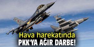 Bakanlık açıkladı! Hava harekatında PKK'ya ağır darbe!