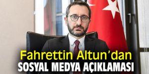 Fahrettin Altun'dan sosyal medya açıklaması