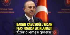 """Bakan Çavuşoğlu'ndan flaş Fransa açıklaması! """"Özür dilemesi gerekir"""""""