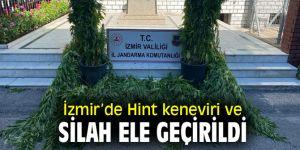 İzmir'de uyuşturucu operasyonu! Hint keneviri ve silah ele geçirildi