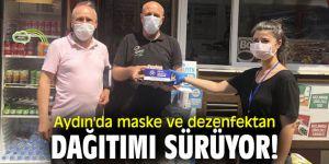 Aydın'da maske ve dezenfektan dağıtımı sürüyor!