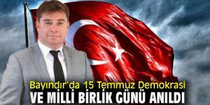Bayındır'da 15 Temmuz Demokrasi ve Milli Birlik Günü anıldı