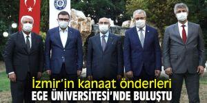 İzmir'in kanaat önderleri EÜ'de buluştu