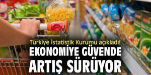 Türkiye İstatistik Kurumu açıkladı! Ekonomiye güvende artış sürüyor